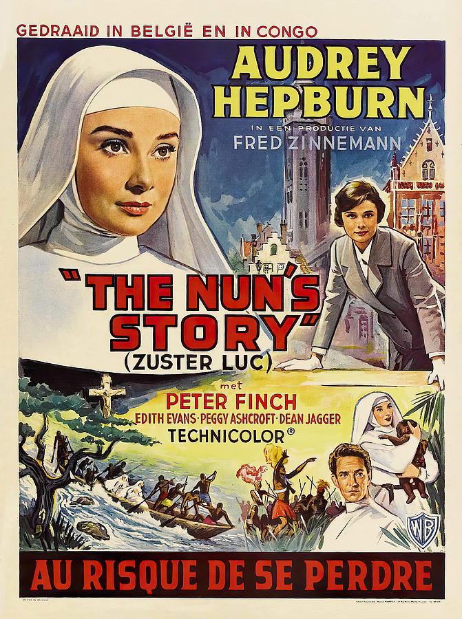 the Nuns Story, With Audrey Hepburn, 1959 Mixed Media