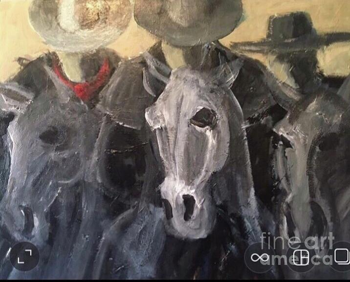 Outlaws Painting - The Outlaws  by Mark Macko