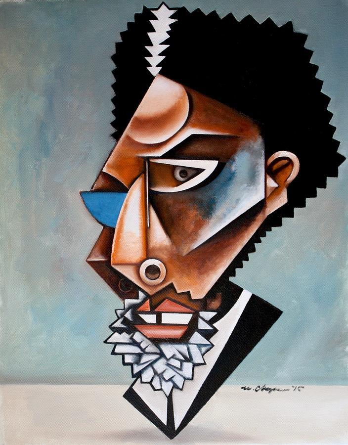 Cornel West Painting - The Recondite / Cornel West by Martel Chapman
