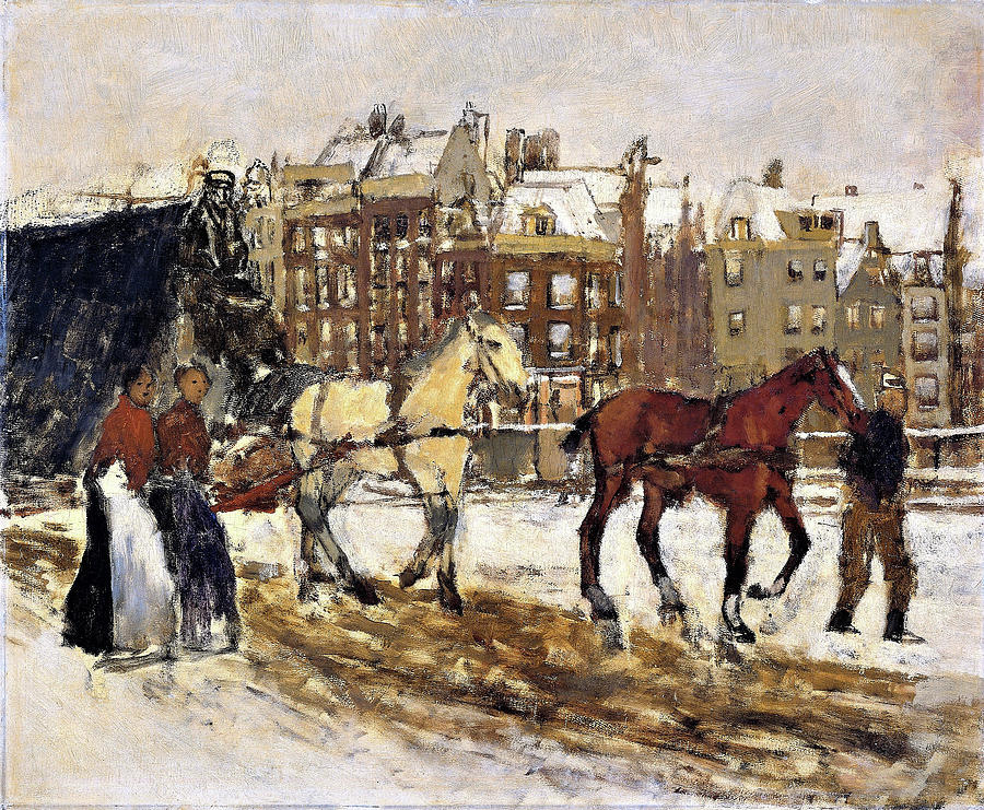 George Hendrik Breitner Painting - The Rokin In Amsterdam - Digital Remastered Edition by George Hendrik Breitner