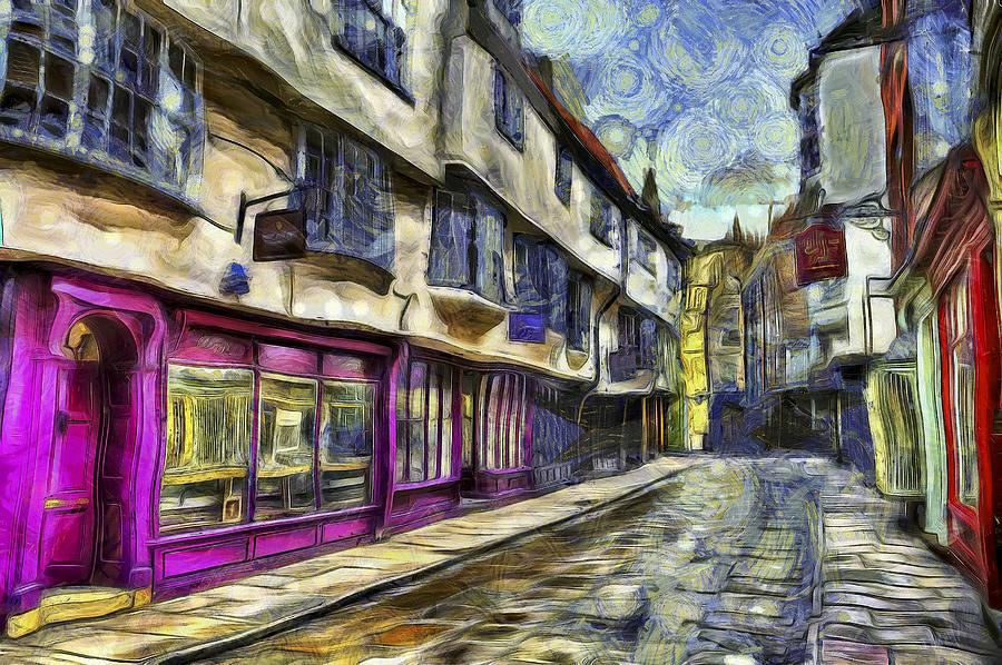 The Shambles York Van Gogh Photograph
