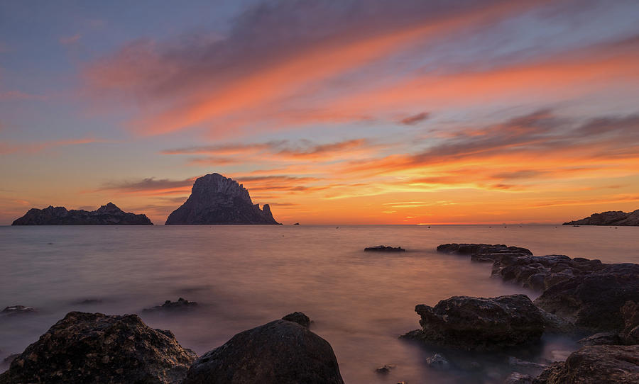 The Sunset On The Island Of Es Vedra, Ibiza Photograph