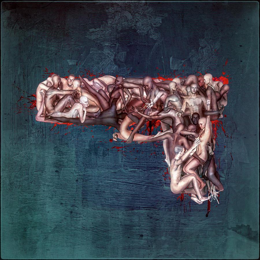 Gun Digital Art - This Gun is Human by Mario Sanchez Nevado