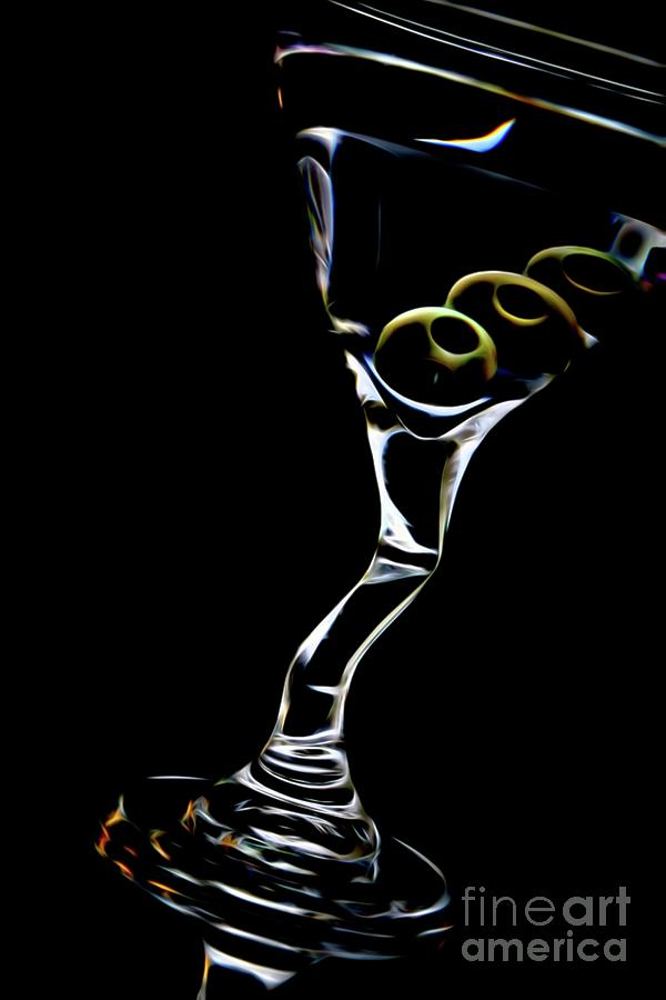Martini Digital Art - Tipsy Martini by Chris Mautz