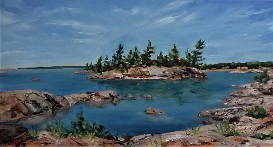Landscape Painting - Tranquility by Monica Ironside