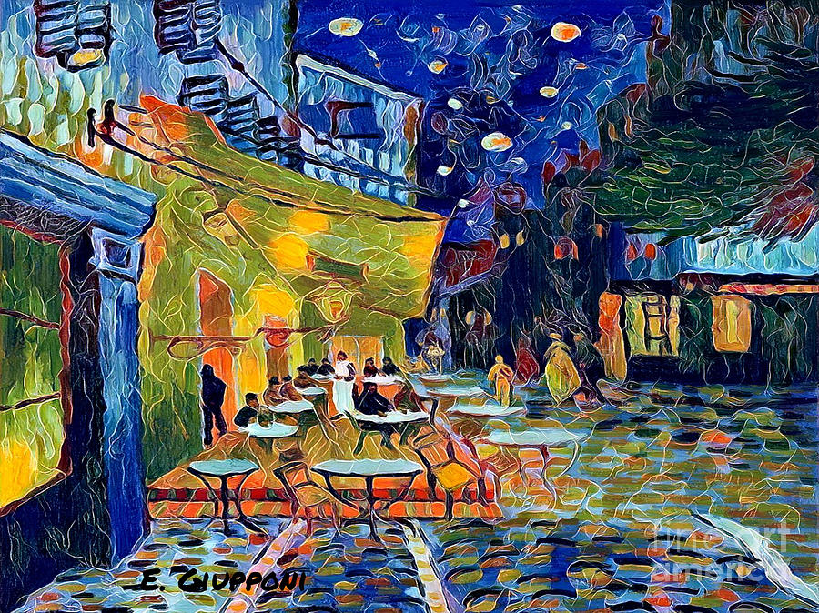 Van Mixed Media - Tribute to Van Gogh by Elizabeth Giupponi