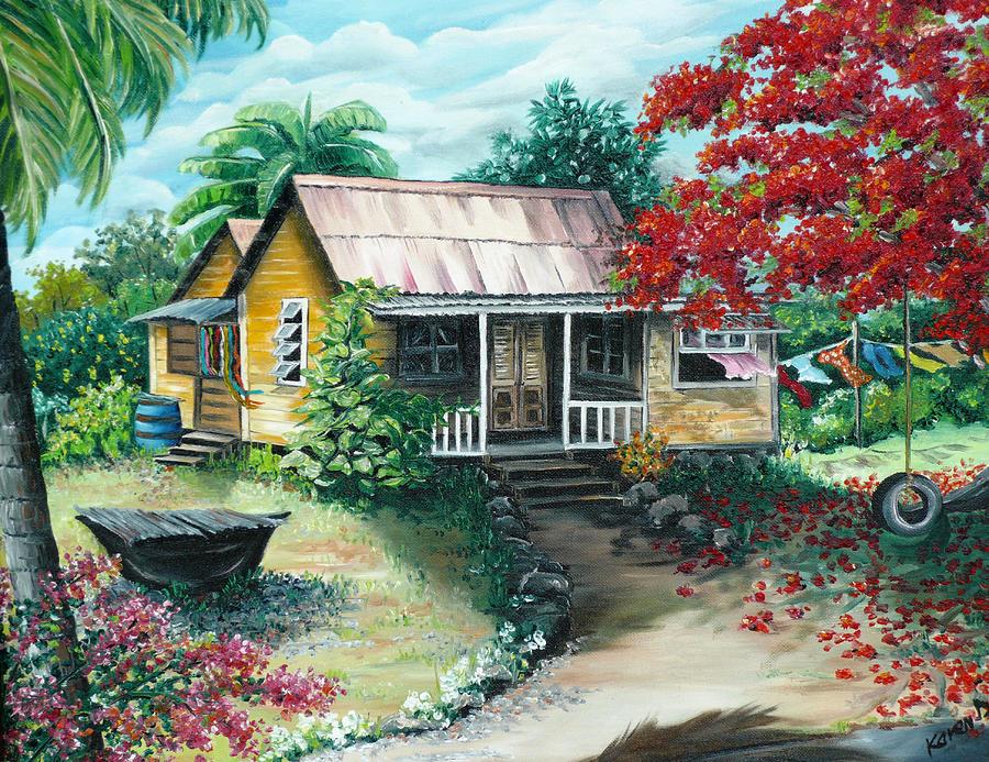 Trinidad Life  Painting by Karin  Dawn Kelshall- Best