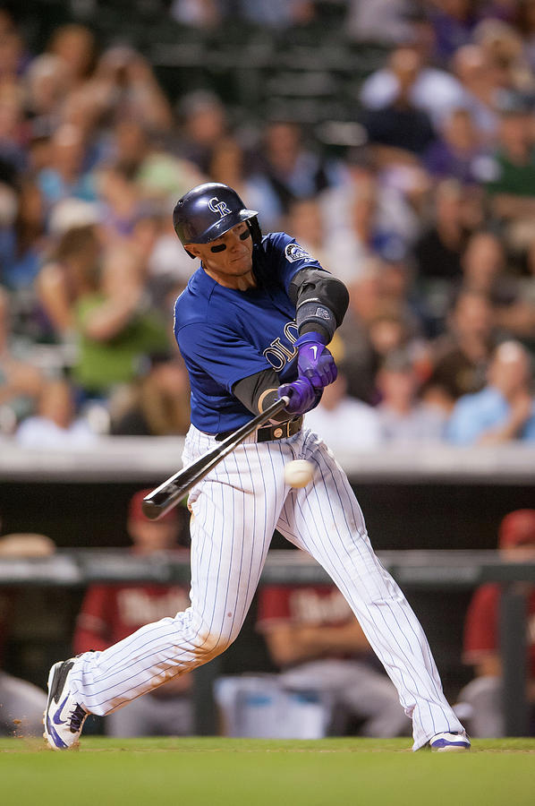 Troy Tulowitzki Photograph by Dustin Bradford