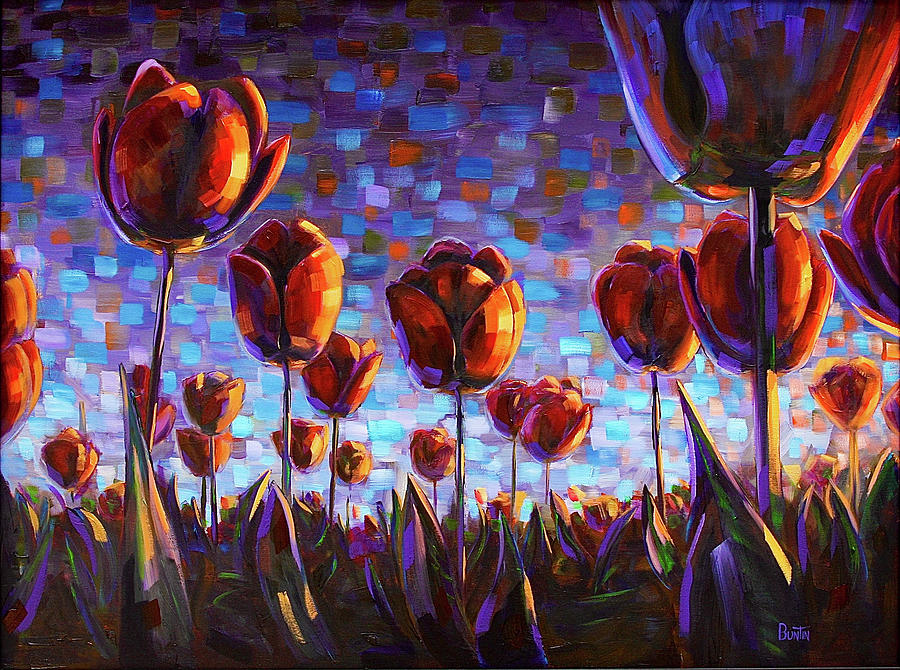 Tulips at Dawn Painting by Rob Buntin