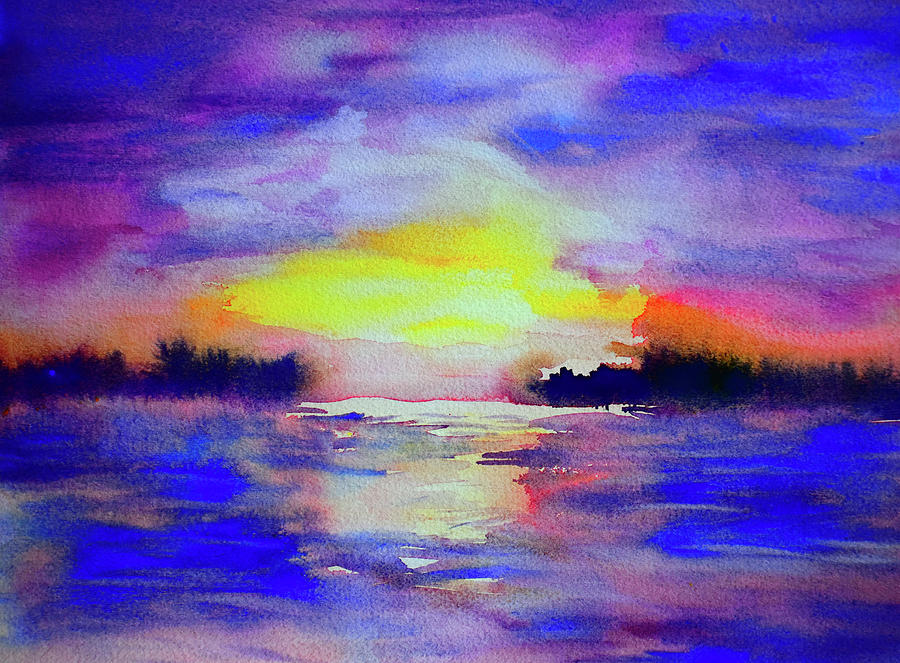 Twilight on the Lake by Paul Thompson