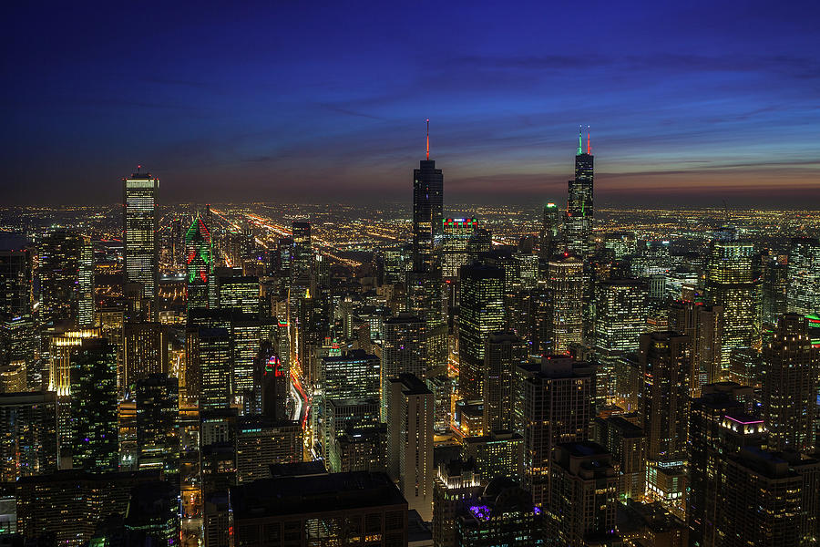 Twilight Over Chicago Photograph