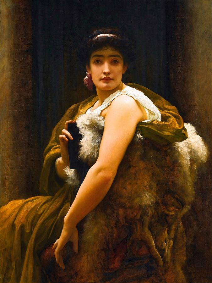 Woman Painting - Twixt Hope and Fear by Frederic Leighton