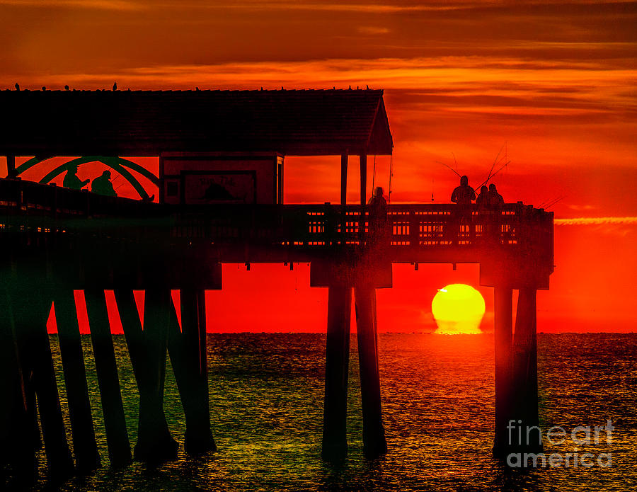 Tybee Pier Sunrise by Nick Zelinsky