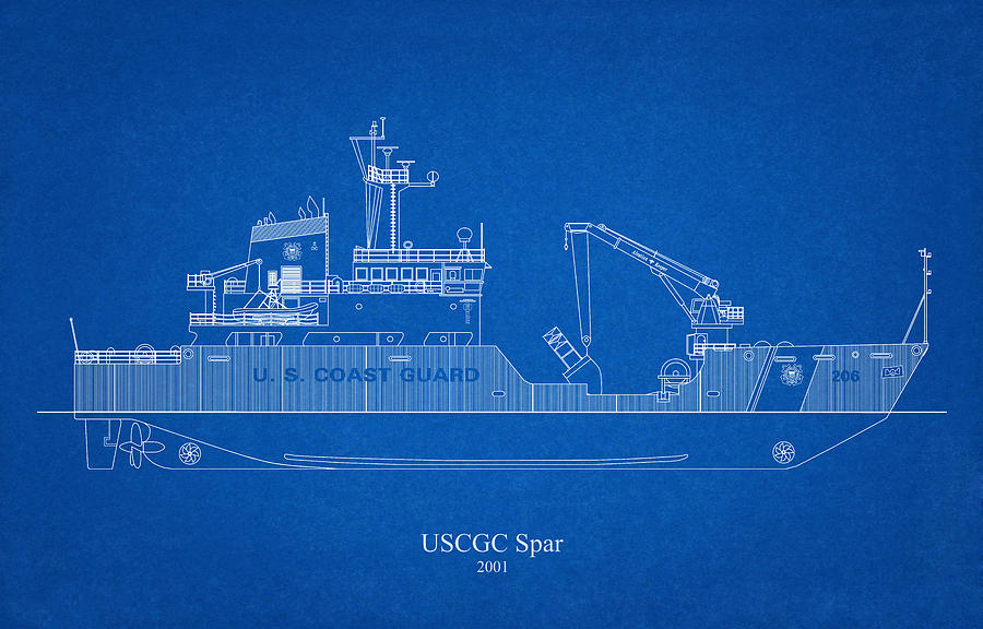 b02 - United States Coast Guard Cutter Spar wlb-206 by JESP Art and Decor