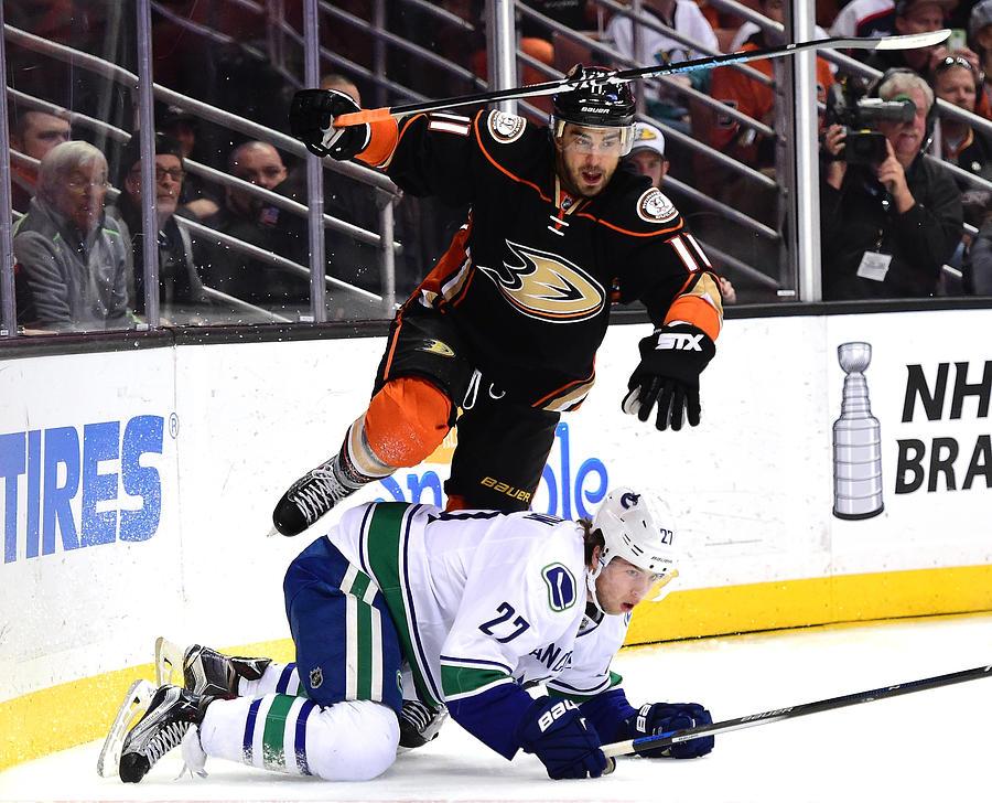 Vancouver Canucks v Anaheim Ducks Photograph by Harry How