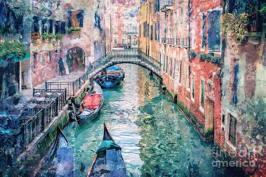 Venice Digital Art - Venice Canal by Phil Perkins