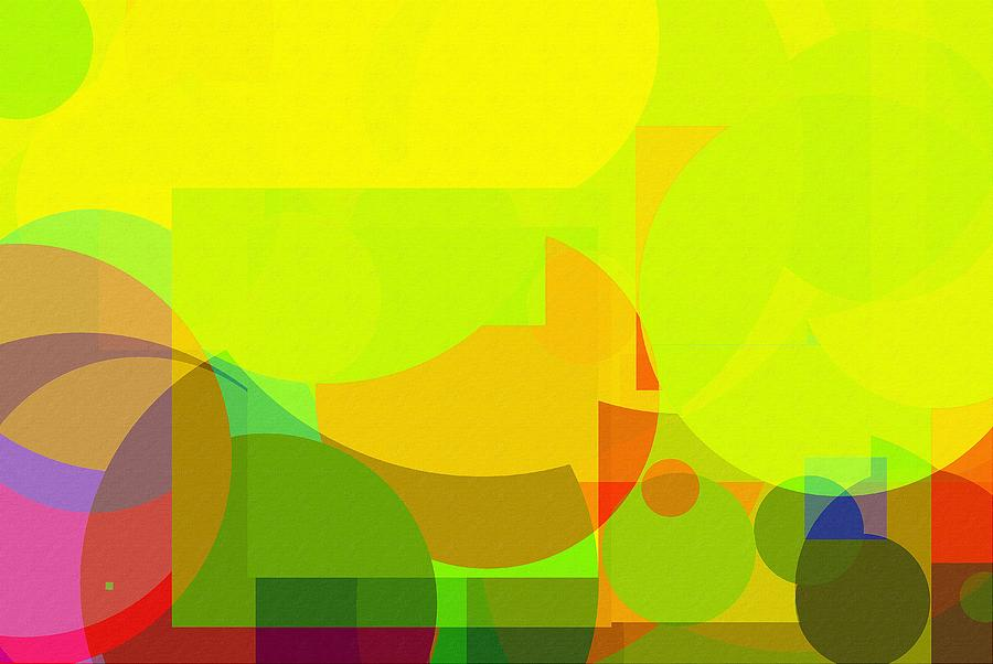 very bright Colorful abstract background in primary colours Photograph