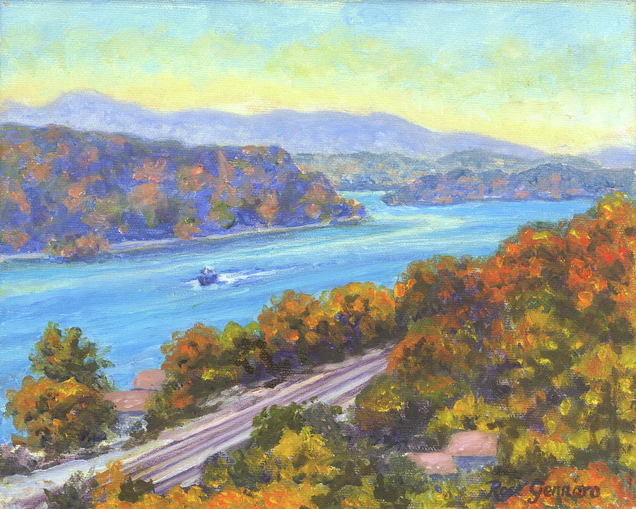 Walkway Painting - View from Walkway in Fall by Rose Gennaro