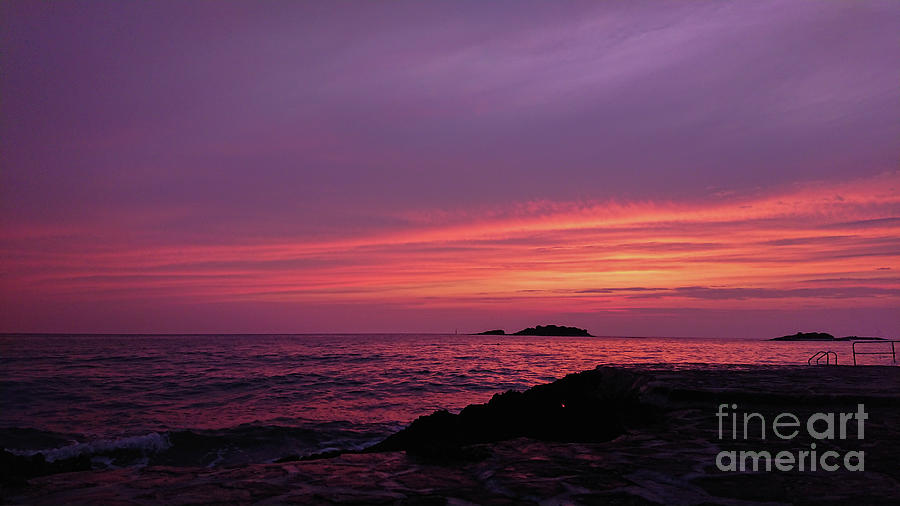 View Of Beautiful Sunset Above The Adriatic Sea Photograph By Beautiful Things