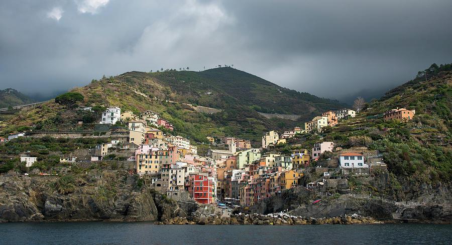 Village Of Manarola With Colourful Houses At The Edge Of The Cliff Riomaggiore,cinque Terre, Liguria, Italy Photograph
