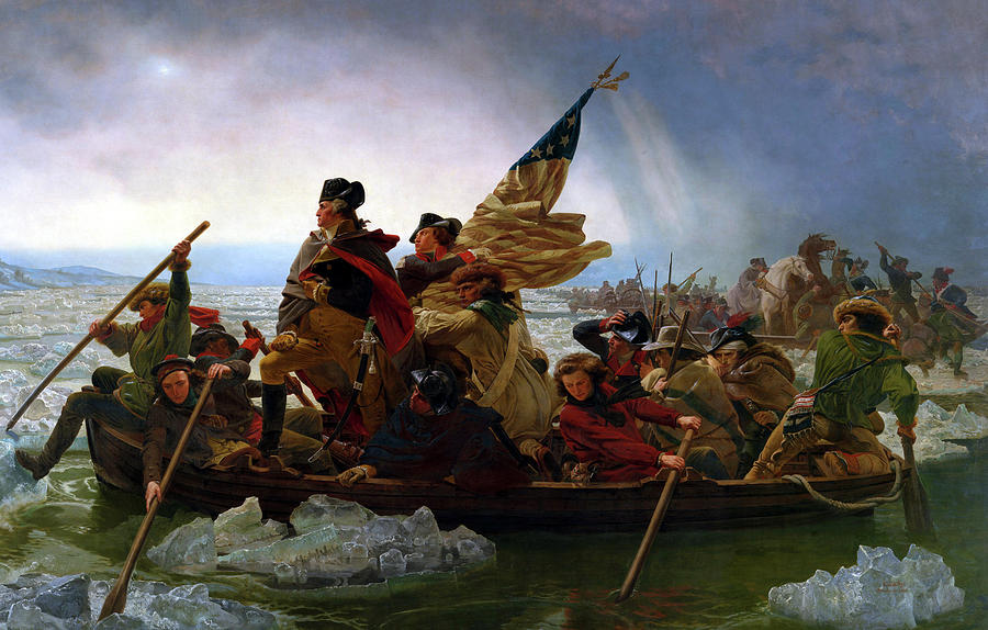 George Washington Painting - Washington Crossing the Delaware by Emanuel Leutze