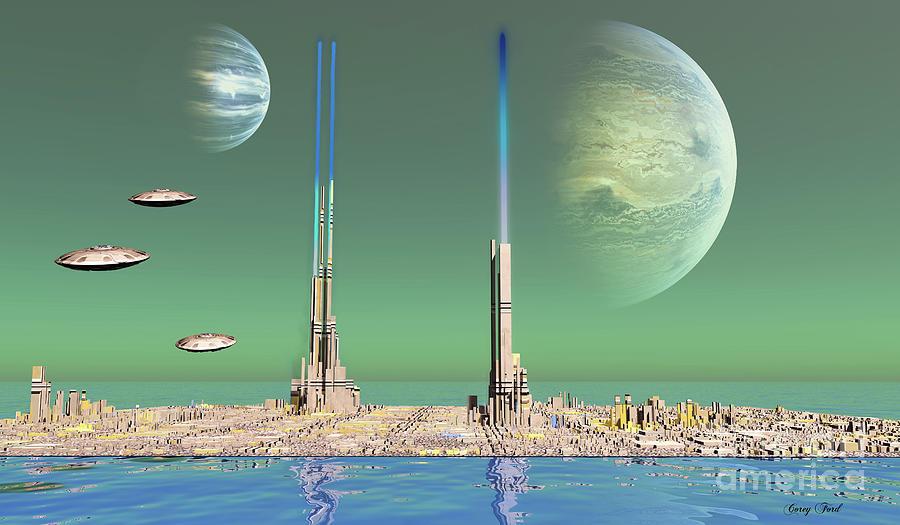 Water Planet Digital Art