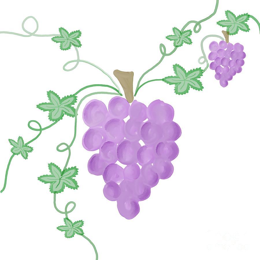 Watercolor Grapevine Digital Art