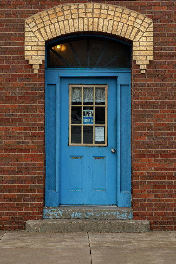 Whats Behind The Blue Door Photograph