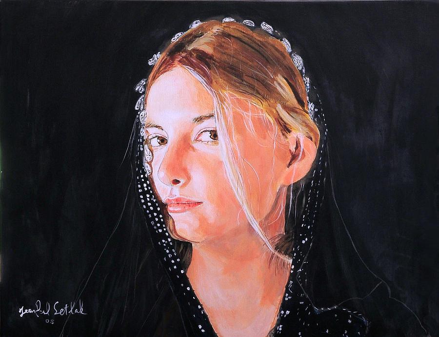 Portrait Painting - White Clouds by Jean-Paul Setlak
