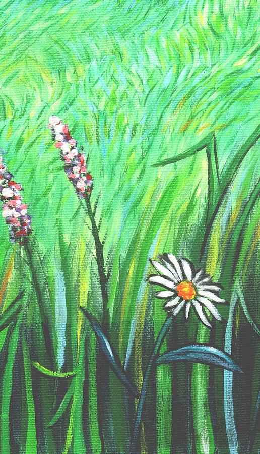 Wildflower Garden Panel One Of Three Painting