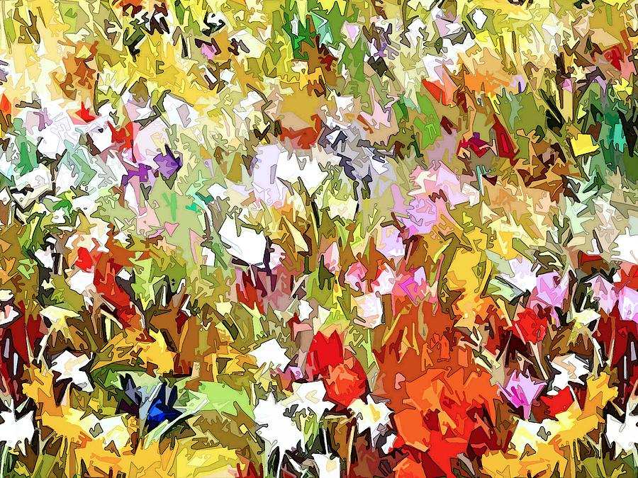 Garden Dazzle Panel Two Of Three Digital Art