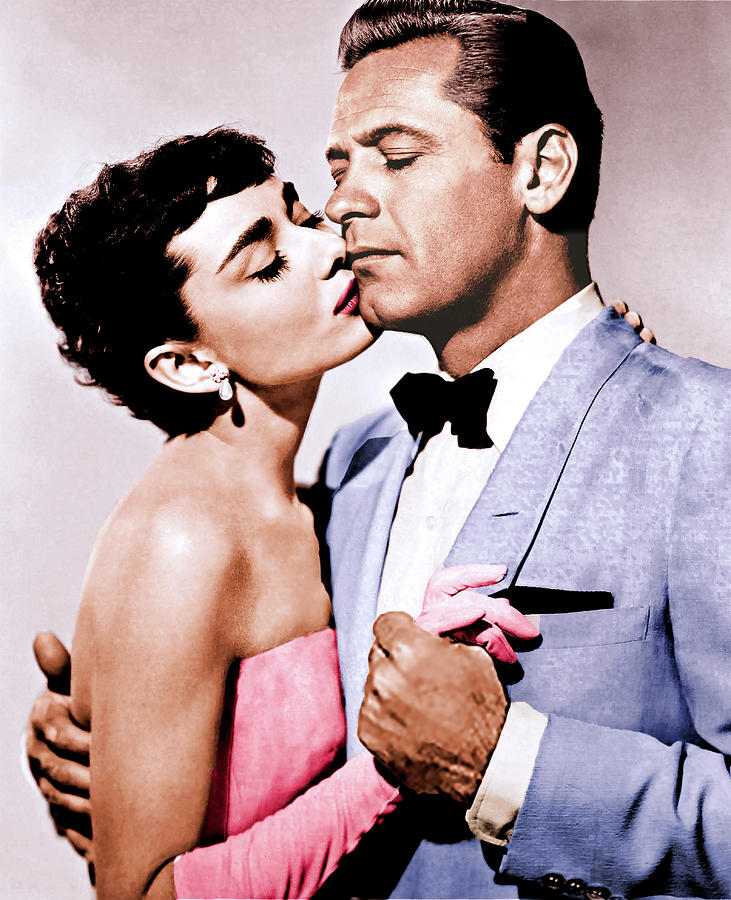William Holden And Audrey Hepburn Photograph