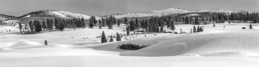 Yellowstone National Park Photograph - Winter Panorama - Yellowstone National Park by N P S Neal Herbert