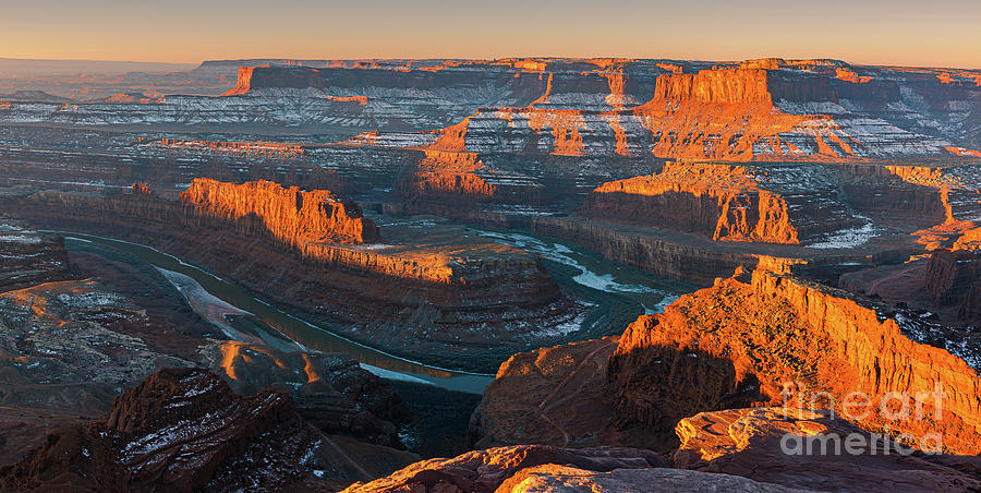 Color Image Photograph - Winter Sunrise At Dead Horse Point State Park by Henk Meijer Photography