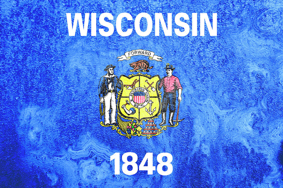 Wisconsin State Flag Photograph