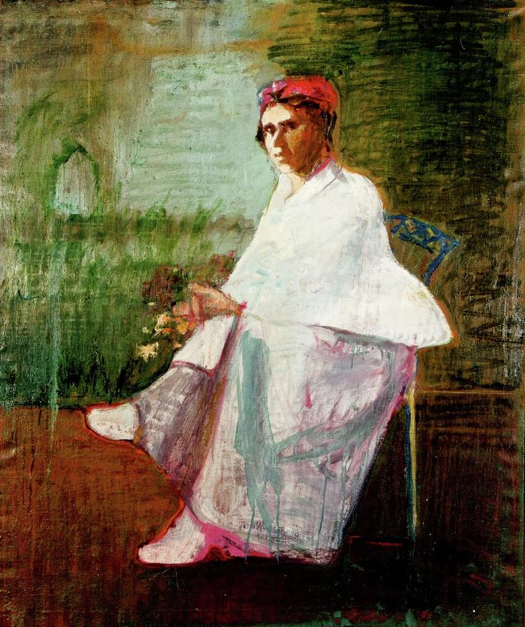 Woman In White Painting - Woman in White by Galya Tarmu