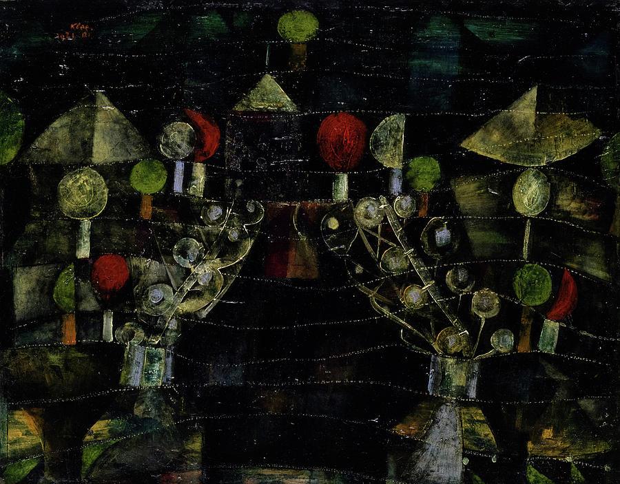 Paul Klee Painting - Womens Pavilion by Paul Klee