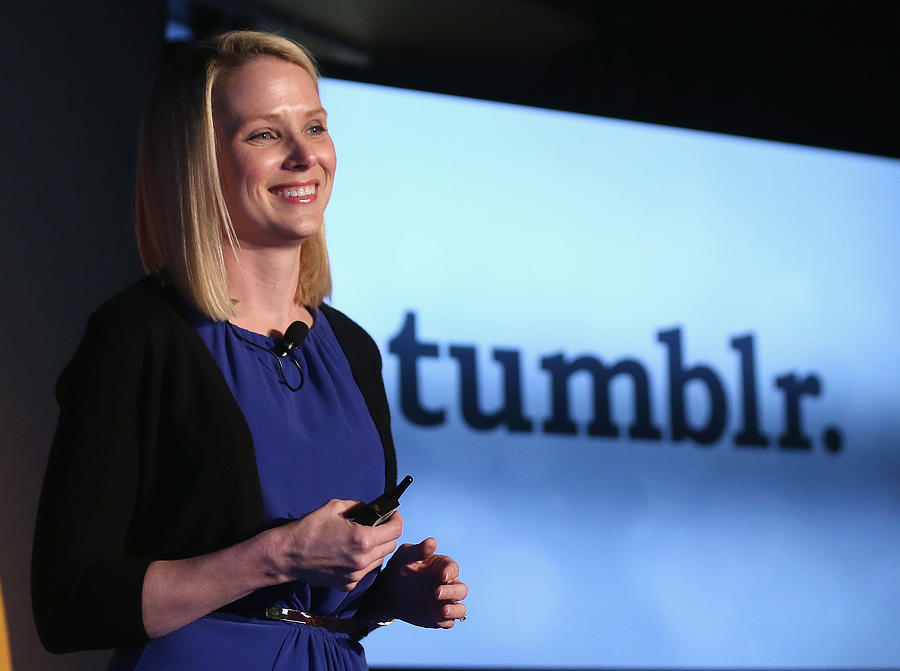 Yahoo! CEO Marissa Mayer Announces Acquisition Of Tumblr For $1.1 Billion Photograph by Mario Tama