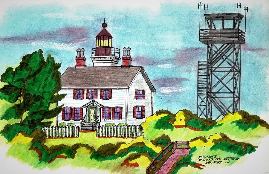 Yaquina Bay Lighthouse Drawing