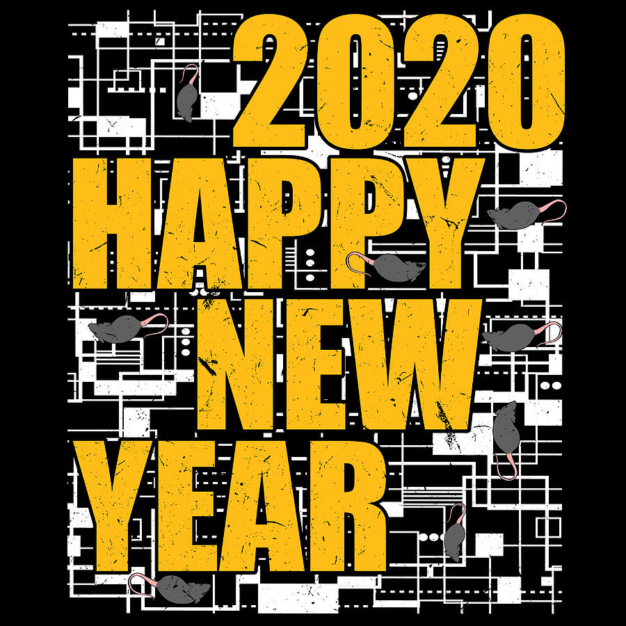 Nema 2020 Christmas Year Of The Rat Happy New Year 2020 January 1st Fireworks