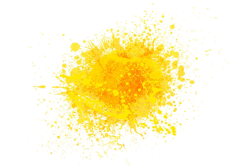 Yellow paint splash Drawing by Enjoynz