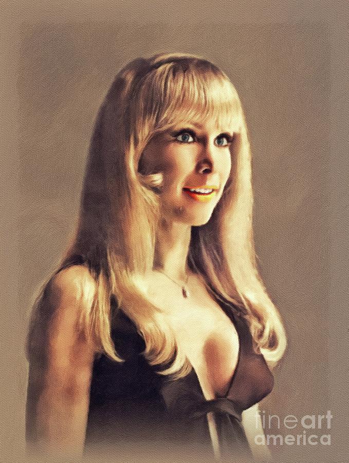 Barbara Eden, Vintage Actress Painting