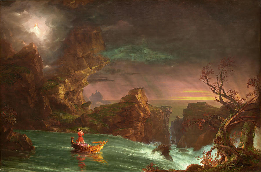The Voyage Of Life - Manhood Painting