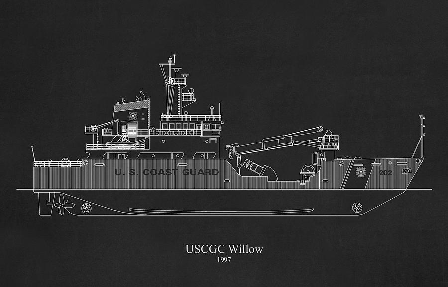 bk02 - United States Coast Guard Cutter Willow wlb-202 by JESP Art and Decor