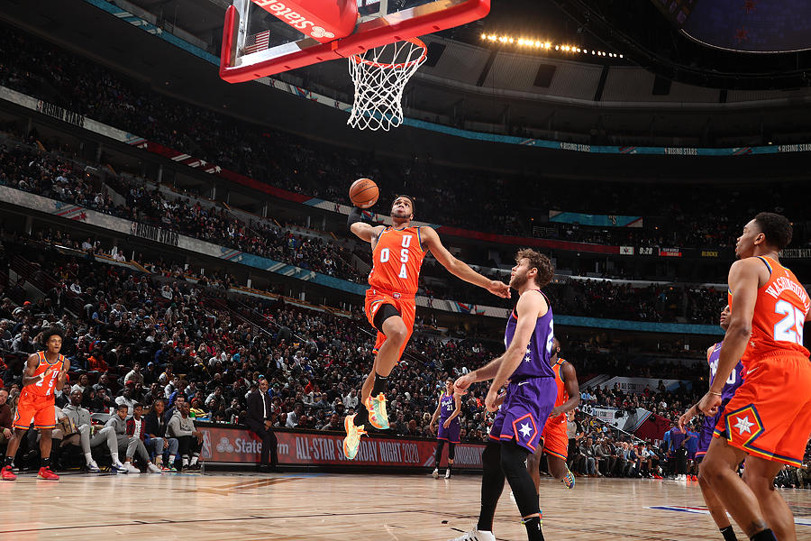 2020 NBA All-Star - Rising Stars Game Photograph by Nathaniel S. Butler