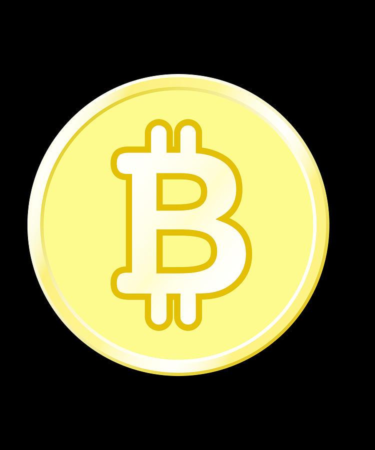 Bitcoin BTC Logo Cryptocurrency Design Digital Art by CalNyto