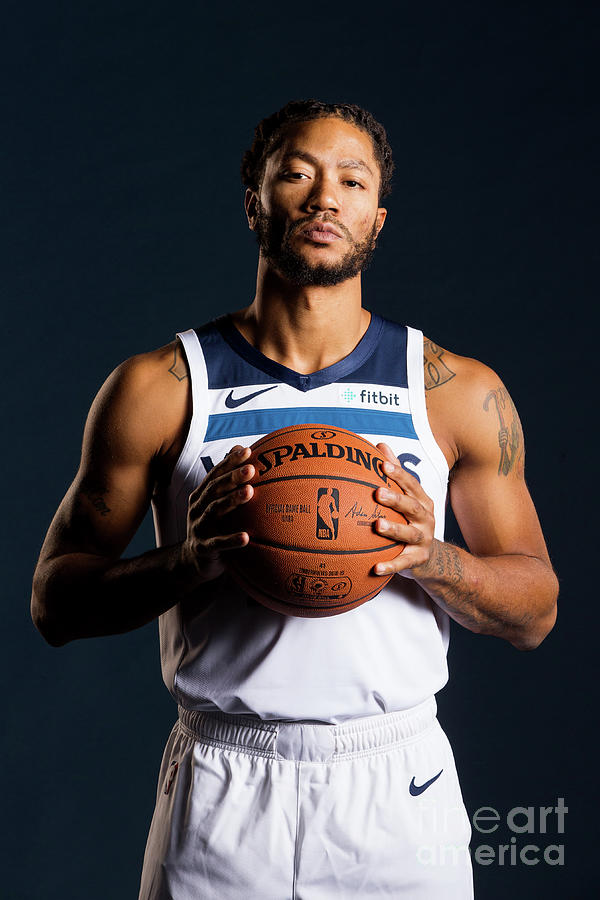 Derrick Rose Photograph by David Sherman