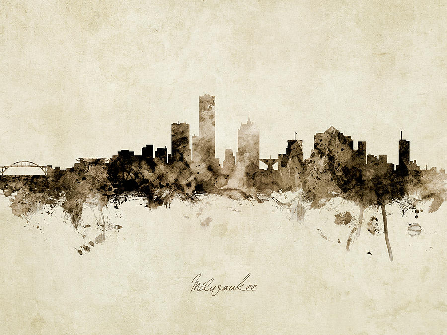 Milwaukee Wisconsin Skyline by Michael Tompsett