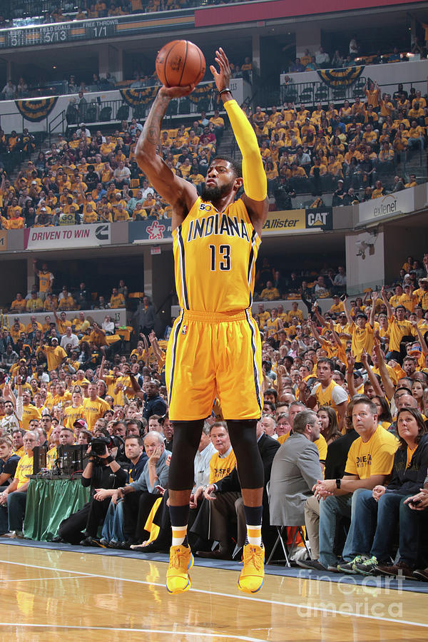 Paul George Photograph by Ron Hoskins