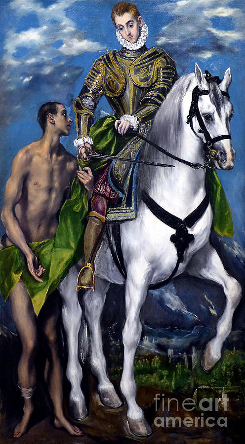 Saint Martin and the Beggar by El Greco